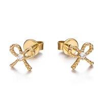 Diamants Oreille Goujons 18 K Jaune/Blanc/Or Rose Boucle D'oreille De Mariée Boucle D'oreille Pour Partie À La Mode Diamants Goutte 0.05ct Boucle D'oreille de pierre gemme