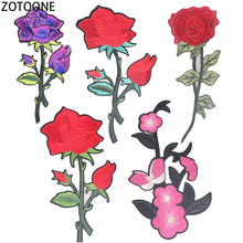 ZOTOONE Colorful Flowers Back Patches Embroidered Patch for Clothing Large Diy Sequin Decorations Sew on Jackets  Applications E
