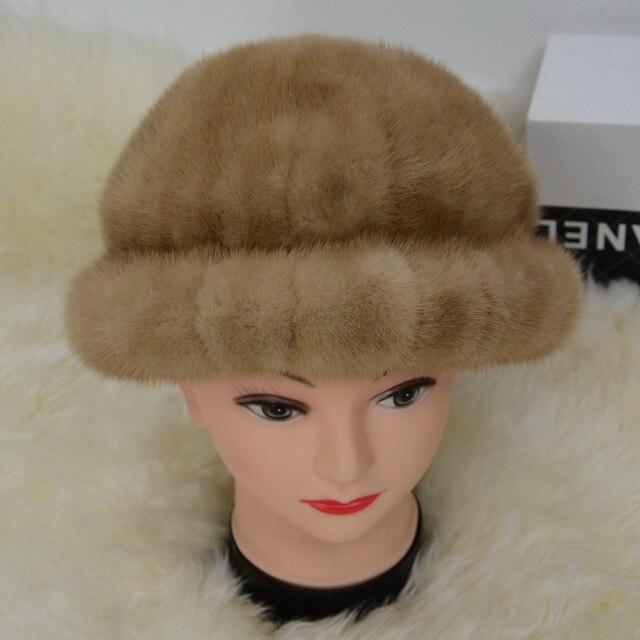 S1579 Real 2016 Mink Fur Hat Women Winter Warm Fashion Beanies Cap Wholesale/ Retail