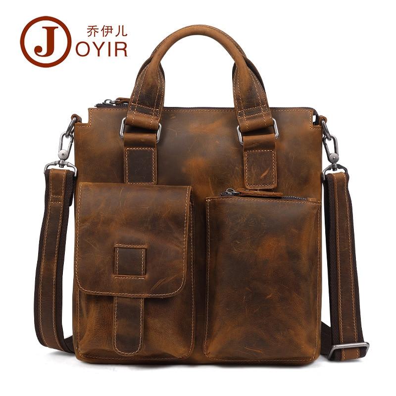 Joyir 2017 Echtem Leder Aktentasche Schulter Tote Messenger Taschen Männer Business Laptop Handtaschen Umhängetaschen Für Männer Männlich