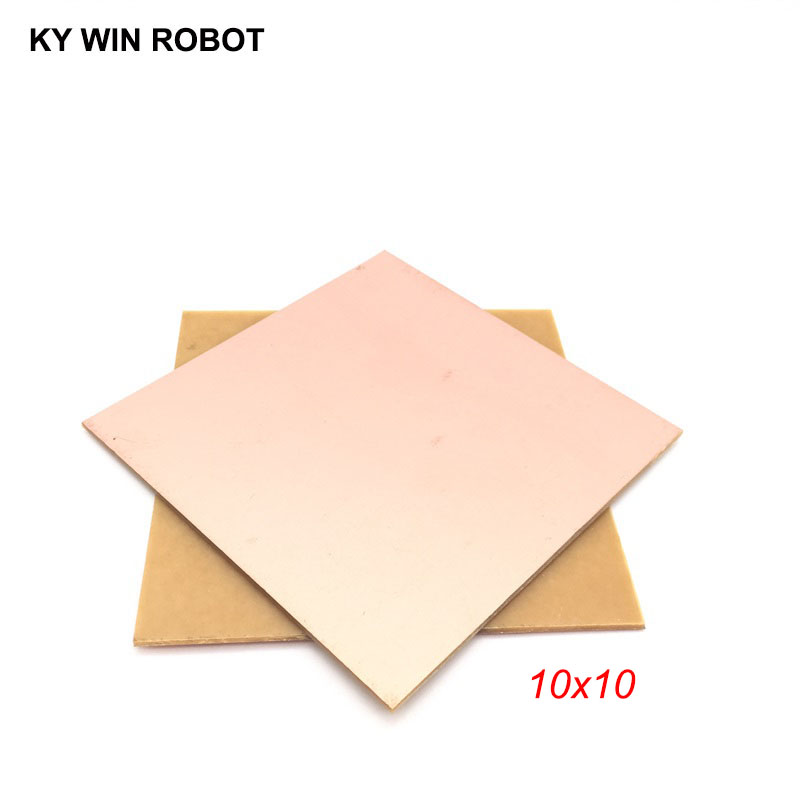 1 Pcs PF PCB 10*10cm Single Side Copper Clad Plate DIY PCB Kit Laminate Circuit Board 10x10cm 100x100x1.6mm