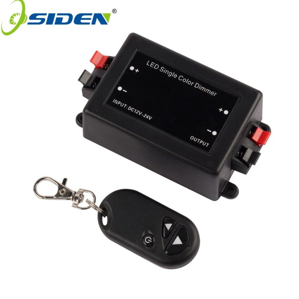 New RF LED Dimmer Wireless Brightness 3 Keys Remote Controller DC 12V 24V 8A 96W 192W