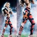 2016 Mulheres Leggings moda Clássico 3D Impressão Digital Leggings Esportivos Calças de Fitness Sexy Elastic Ropa de Malha Calça Casual