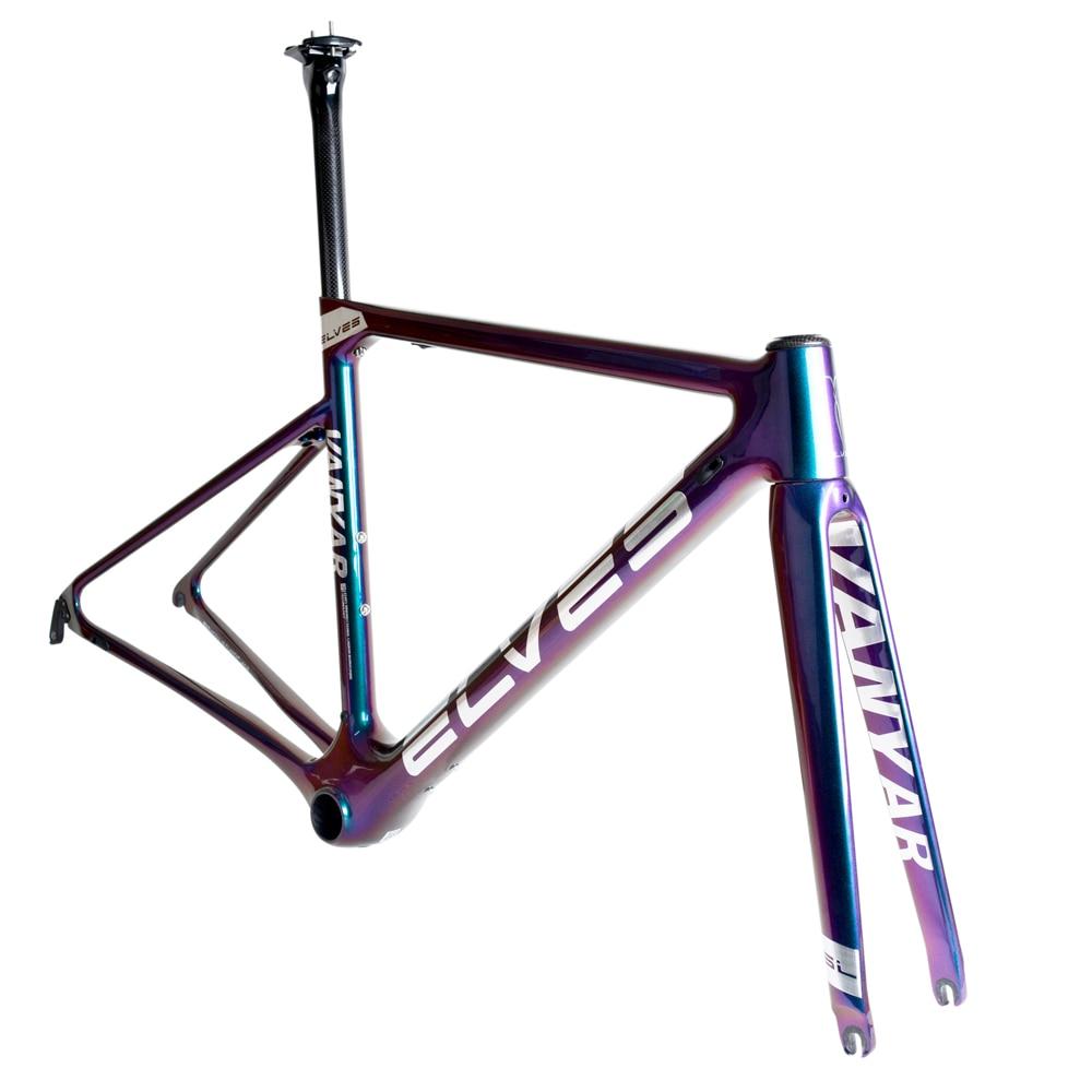 SUNTURE VANYAR Carbon Road Frame  Aero-dynamics Lightweight 690g(46CM)road Bike Frame T800 Carbon Road Frame Aero