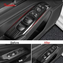 Tonlinker Interior Car Windows Control Panel Cover sticker per Nissan ALTIMA 2019 Car Styling 4 PCS ABS/adesivo in acciaio inossidabile