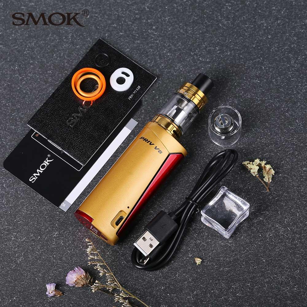 Original SMOK Priv V8 60w Priv V8 Box Mod 3ml Tfv8 Baby Tank Tfv8 Baby M2  0 25ohm Coil Electronic Cigarette Vs T Priv Priv M17