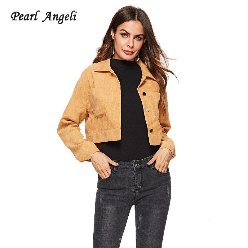 2018 Female Autumn Short   Jacket   Women Long Sleeve Single Breasted Turn-down   Basic     Jackets   Ladies Coats Slim Fit Winter
