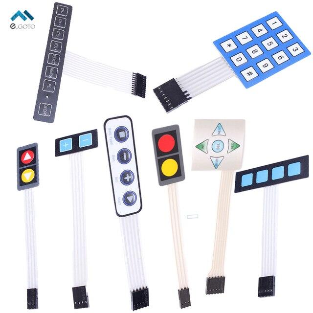 O envio gratuito de 8 Tipos 1x2 1x5 1x4 1x8 3x4 1x4 Matriz matrix Membrana Switch Teclado Keyboard Painel de Controle Do Interruptor Sortidas Kits