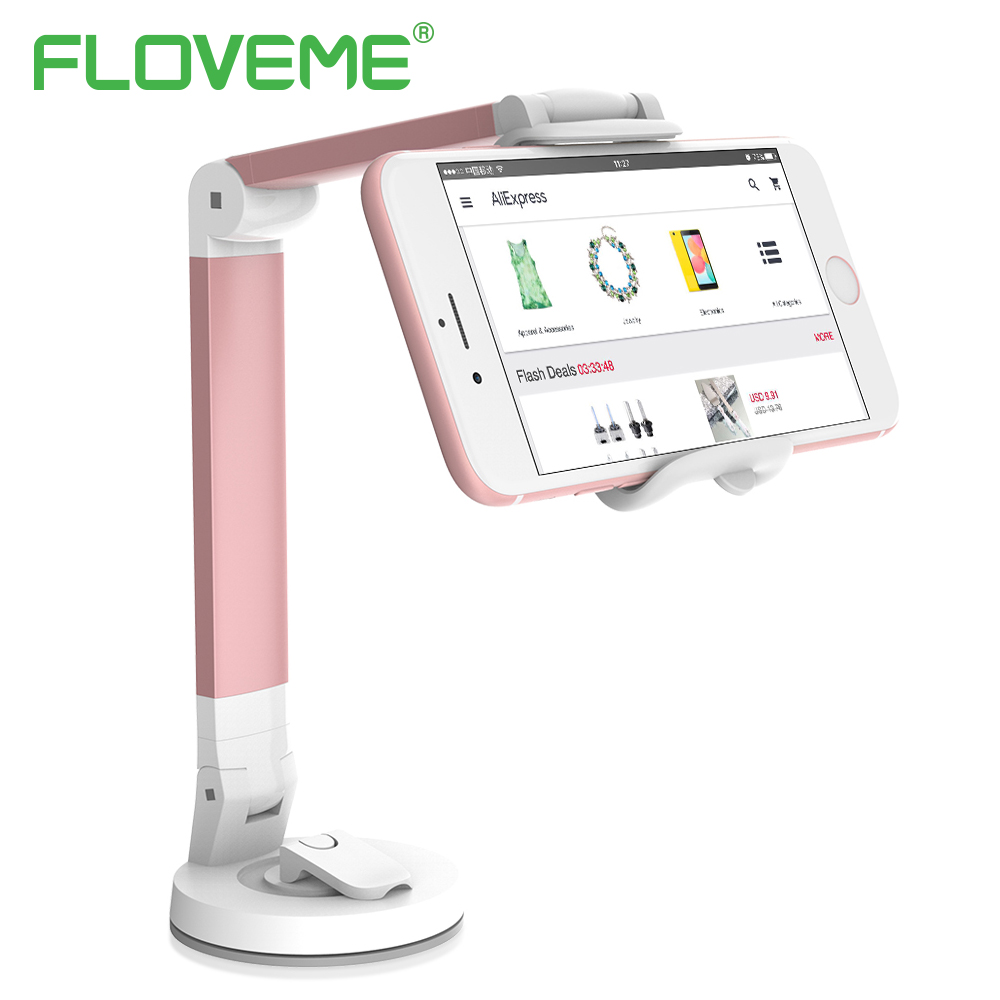 FLOVEME 360 Degree Rotation Desk Car Phone Holder For iPhone 6 6S 7 8 Plus X Flexible Stick Strong Adsorption Tablet Phone Mount