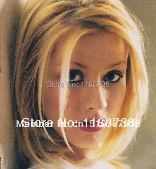 Christina Aguilera Celebrity Hairstyle Graceful Short Dark Brown Straight Bob Wig For African American Women W015 Wig Packaging Wig Gamewig Big Aliexpress