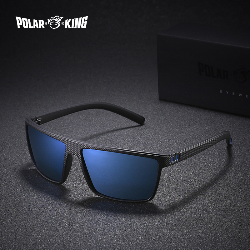 POLARKING Brand Retro Polarized Sunglasses For Men Oculos De Sol Men's Fashion Square Driving Eyewear Traveling Sun Glasses