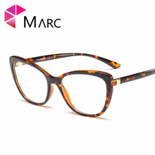 MARC Frame Eyeglass Clear lens Women 2019 Cat eye Fashion Square Glasses Resin Transparent Eyewear Personality Purple 95185 1