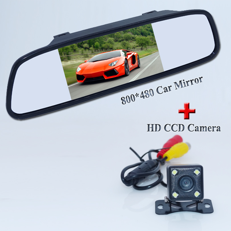 Promotion For Parking Assistance System, LED Night Vision Car Rear View Camera With 5 inch Color LED Car Mirror Monitor