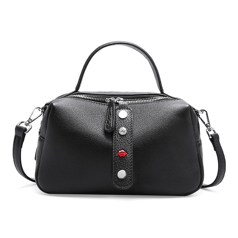 BRIGGS shoulder bag women designer handbag high quality female Pillow bag tote soft Genuine leather small crossbody bags ladies in Top Handle Bags from Luggage Bags