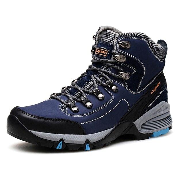 Men s Waterproof Hiking shoes Anti-slip Mountain Trekking Hiking Boots  Outdoor Man Climbing walking Shoes Zapatos Hombre c6eb3fa2d