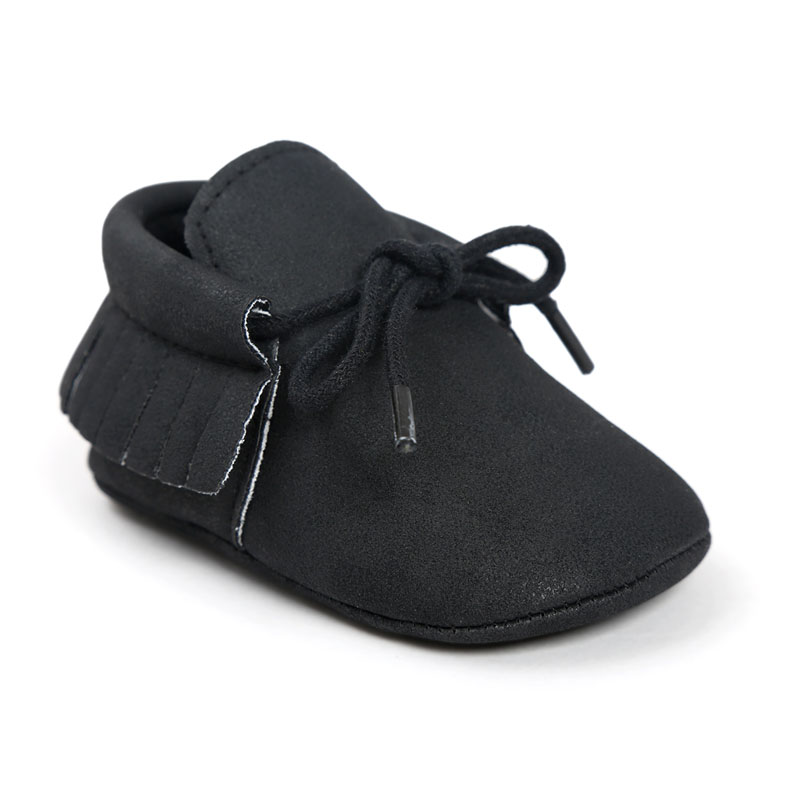 Baby Shoes Newborn Boys Girls PU Leather Moccasins 0-18M
