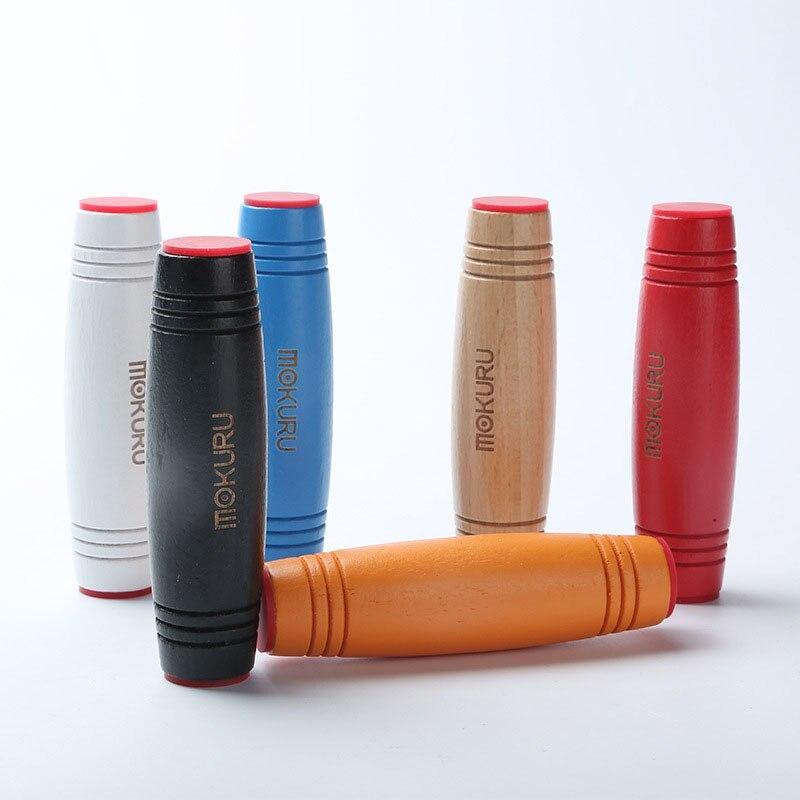 Japanese Toy Mokuru Fidget Stick Flip Stress Reliever Desk Toy Antistress Desktop Roller Toy Kururin Wood Fidget Stick Mokuru