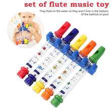 1set Water Flute Toy Kids Children Colorful Flutes Bath Tub Tunes Toys Fun Music Sounds Baby Shower