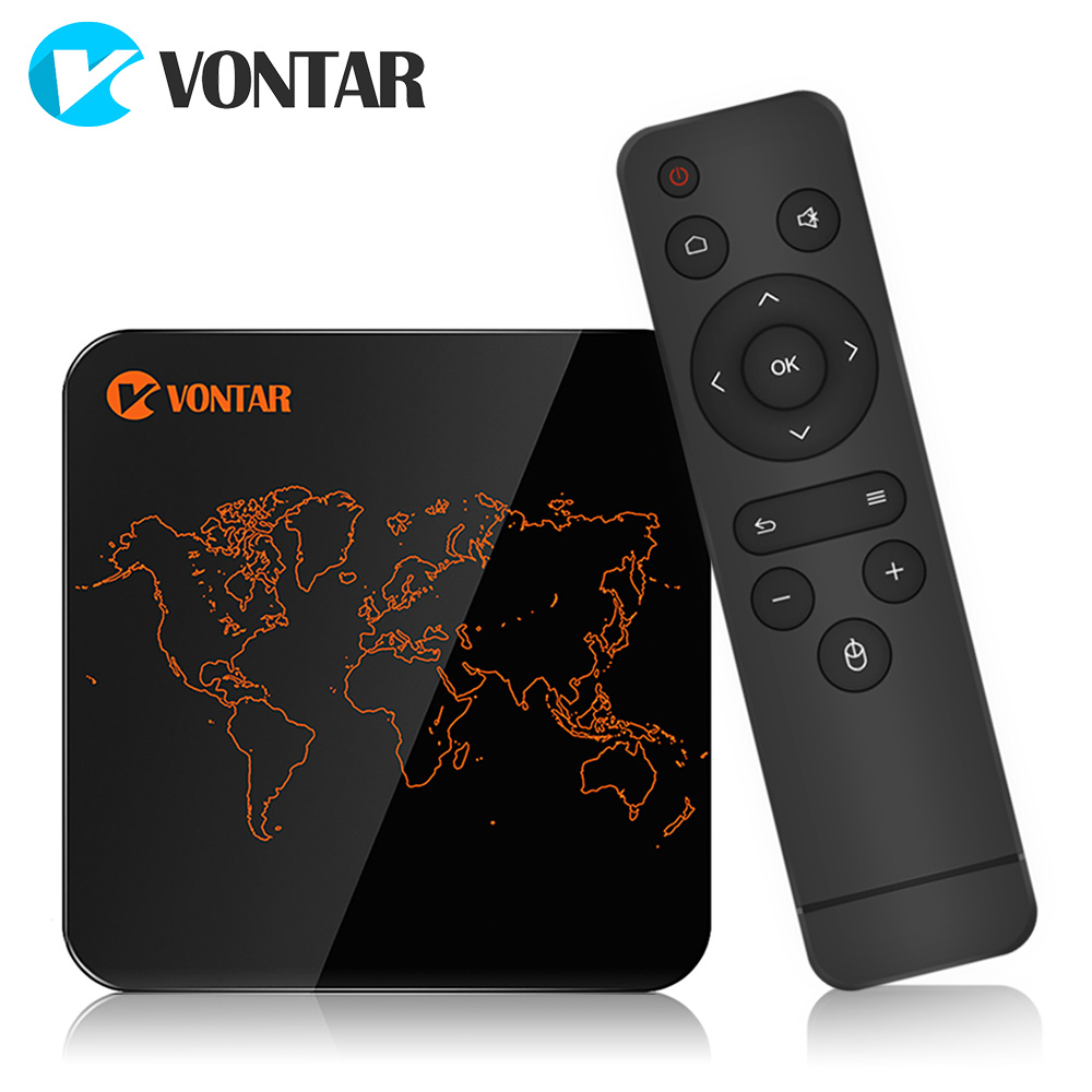 VONTAR V1 Pro 2 ГБ 16 ГБ Android 7,1 Smart ТВ Box Amlogic S905W 4 ядра 2.4g WiFi H.265 4 К 30fps VP9 медиаплеер телеприставку