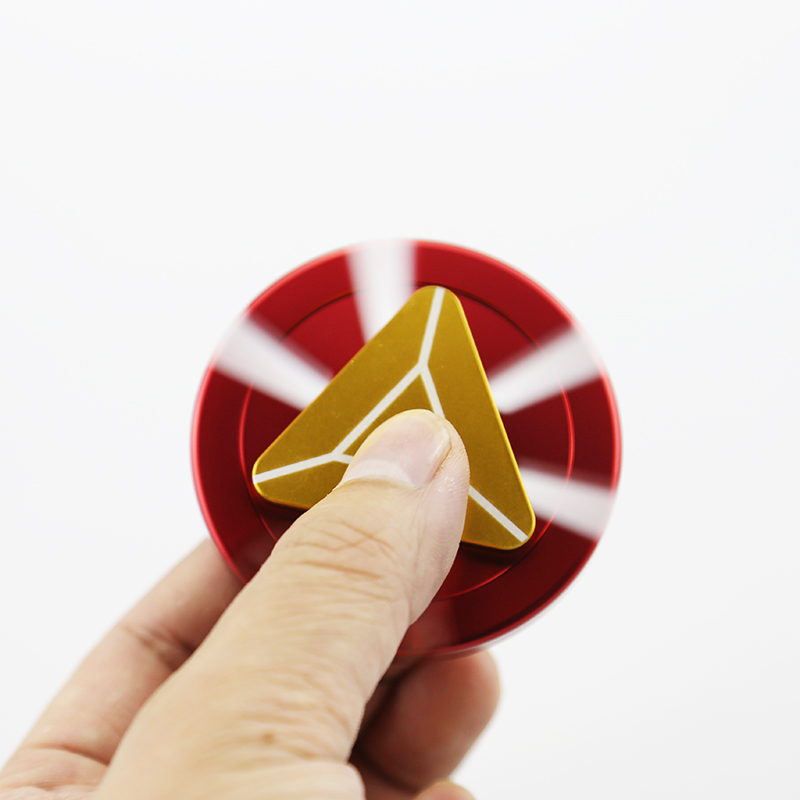 Iron Man Fidget Spinner Metal Hand Spinner Tri-Spinner Anti Stress Finger Spinner Toys For Autism and ADHD