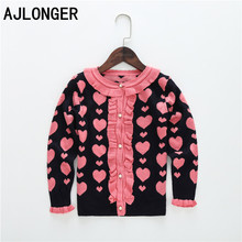 New 2014 Fashion Girls Spring Autumn Clothing Outerwear Lace  All-match Cardigan Knitted Sweater
