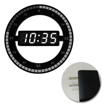 Electric Digital Hanging Wall Clock LED Display Clock Adjust Brightness Desktop Table Clock