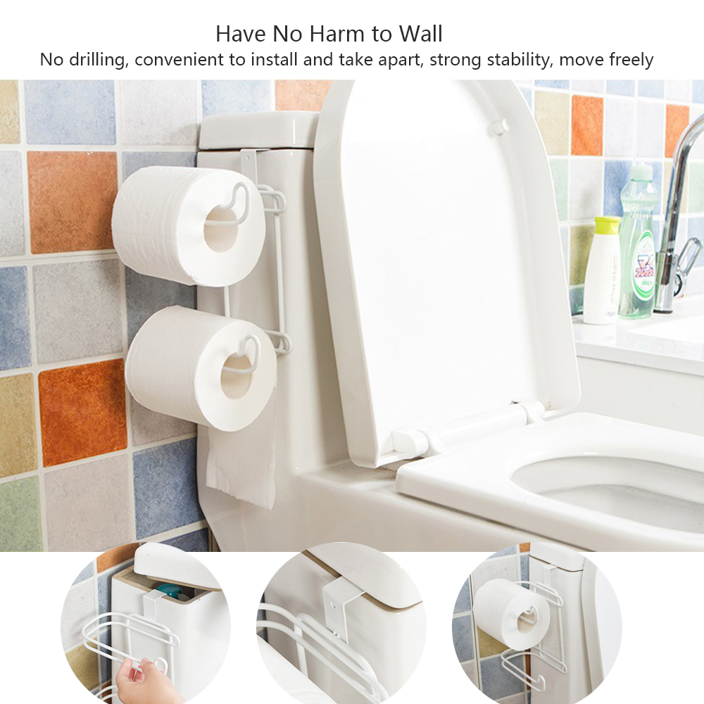 Covered Toilet Paper Storage Abedoe 2 Layers Bathroom Hanging Organizer Toilet Roll Paper Holder Kitchen Cupboard Door Towel Tissue Storage Hanger In Portable Toilet Paper Holders