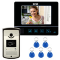 """7"""" LCD Touch Key Video Door Phone Home Entry Intercom  RFID Reader 1 Monitor"""