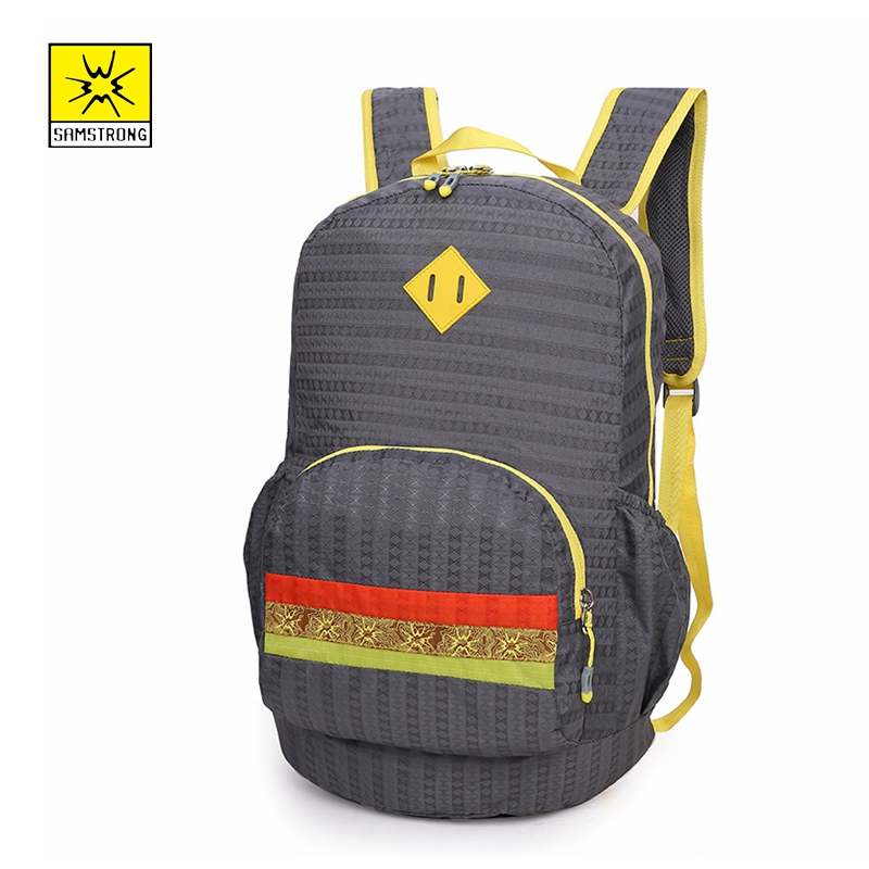 Samstrong 20L Folding Backpacks Foldable Lightweight Bags Boy Sport Girls Outdoor Back Pack Daily Travel  Women Men Shoulder Bag 21w outdoor travel folding foldable