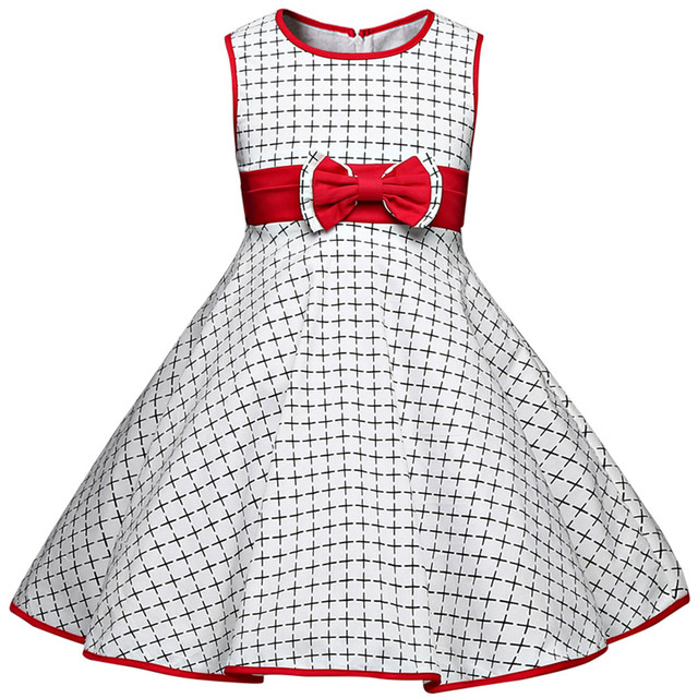 Summer Girls Dresses For Girl Party Wear 2017 Baby Plaid Prom Dress ...