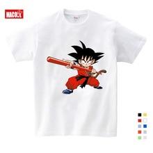цена Newest Dragon Ball T Shirt Summer Cartoon Goku Print Tee Tops For Boy Girls Clothing Children Funny Kids T Shirt Clothe 3T-9T