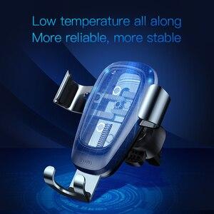 Image 5 - Беспроводное зарядное устройство Baseus Qi, автомобильный держатель для телефона iPhone 11Pro, Samsung, держатель, подставка с креплением на вентиляционное отверстие, Гравитационный автомобильный держатель