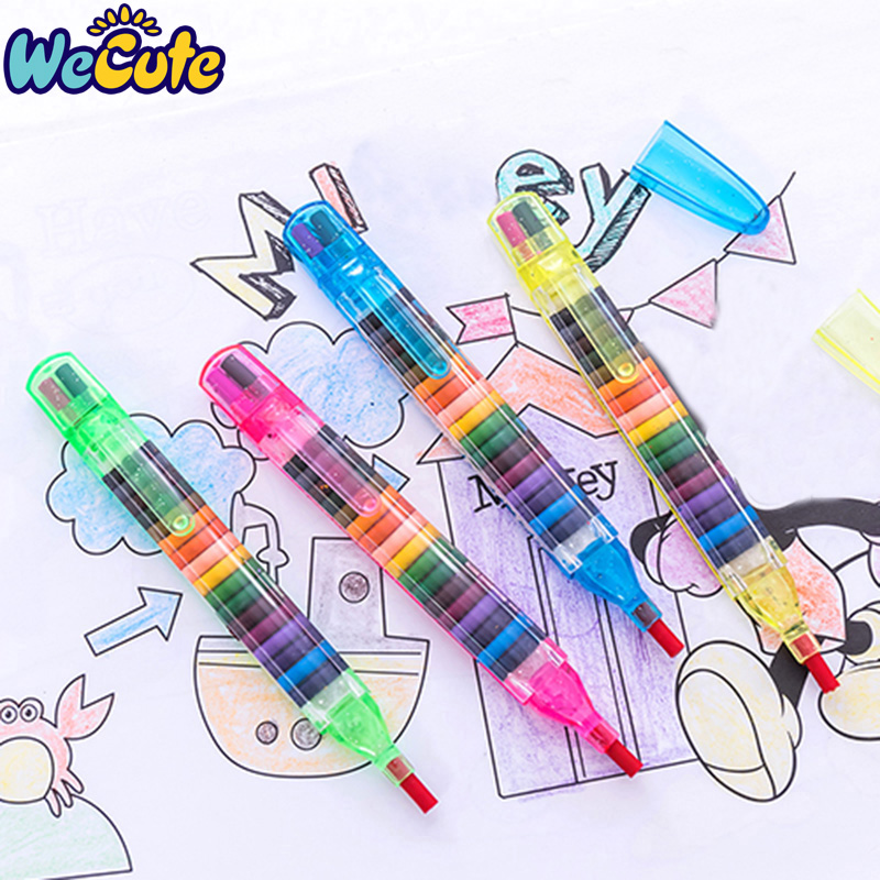 Wecute Kids Toys Graffiti Pen Children Painting Toys 20 Colors Wax Crayon Baby Funny Creative Educational Oil Pastels Art Gift
