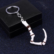 Game Series Dota 2 Keychain Butcher Pudge Key Chain Immortal Dragon Talon Hook Alloy Dota2 Keyring