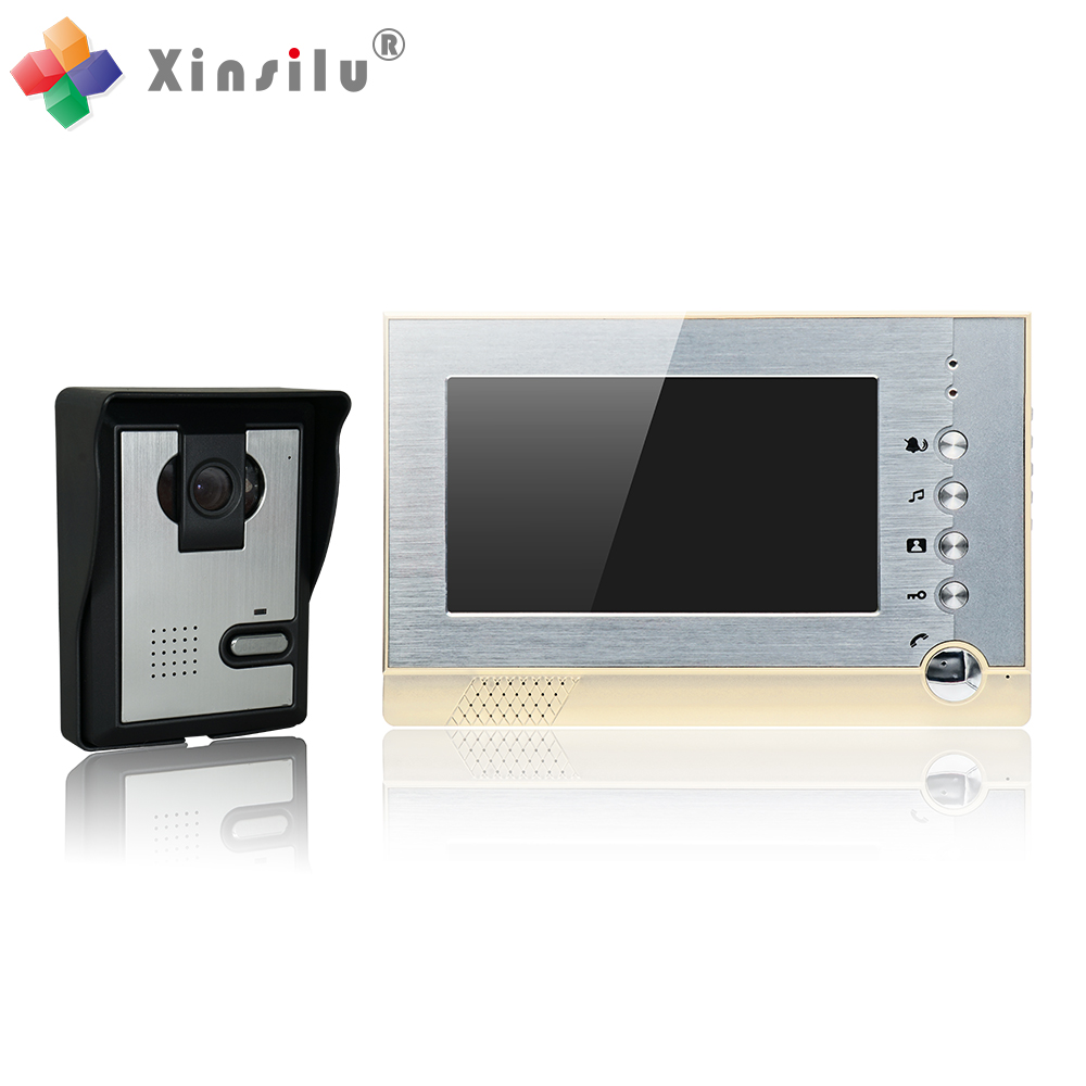 7 Inch 4 Cord Video Door Phone Support SD Card Storage Take Photo&Video