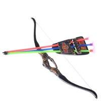9a632161d ¡Caliente! Divertido 35 cm niños plástico al aire libre tiro con arco niños  arco y flecha juguete para disparar juguetes regalos.