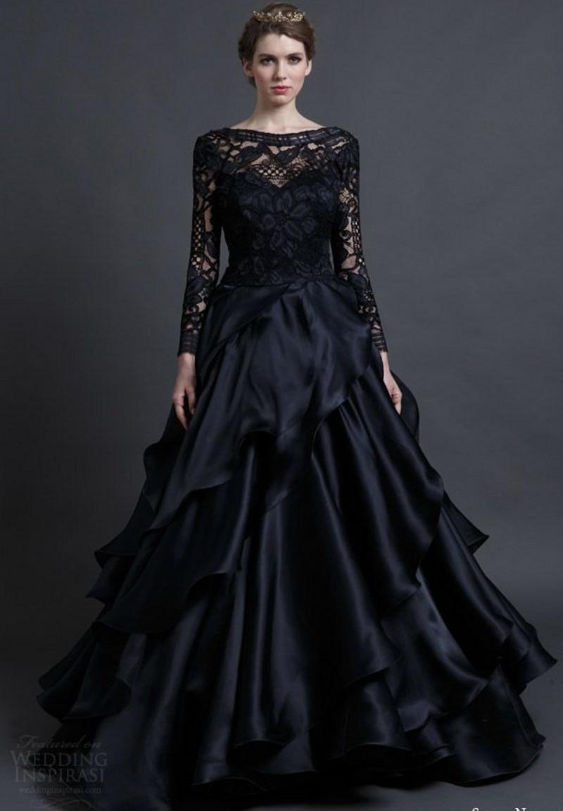 Long Black Backless Dress