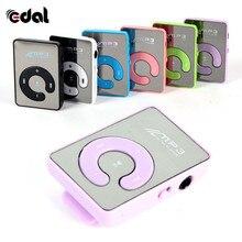 EDAL USB цифровой Mp3 музыкальный плеер мини зеркало клип Поддержка 8 Гб SD TF карты Портативный Спорт mp3 плееры