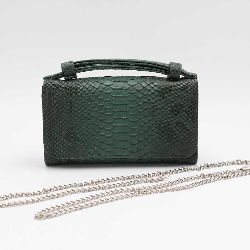 d6d59c67ab02 ... TOPHIGH модные женские туфли змея сцепления бумажник из кожи аллигатора  из натуральной коровьей кожи сумка Длинные ...