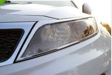 Chrome head light coperchio della lampada trim per Kia Optima K5 2011 2012 2013