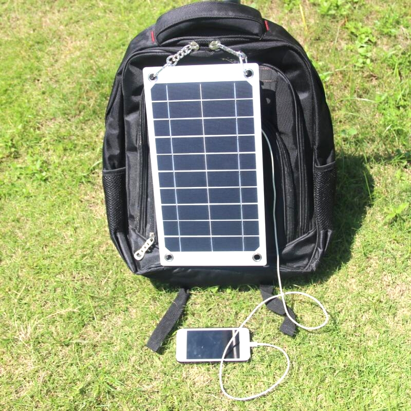 BUHESHUI 7.5W 5V Mono Portable Solar Panel Charger Outdoor USB Digital Frame Style Solar Charger For iPhone Android 5V Device buheshui 40w sunpower solar panel charger usb 5v