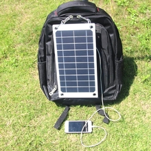 BUHESHUI 7.5W 5V Mono Portable Solar Panel Charger Outdoor USB Digital Frame Style Solar Charger For iPhone Android 5V Device