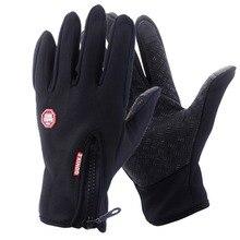 Мужские сенсорный экран для женщин перчатки для альпинизма велоспорта на открытом воздухе спортивный с полными пальцами вождения зимние теплые варежки для мобильного телефона девушка Fema