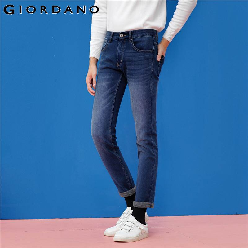 most popular catch in stock Giordano Hommes Jeans Denim Pantalon Pantalon Doublé Polaire ...