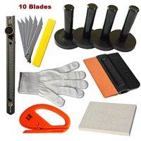 EHDIS Auto Wrap Vinyl Gereedschap Kit Wol Zuigmond Snitty Cutter Mes Stickers Toepassing Gereedschap Vinyl Tool Kit Magneet Houder TK02