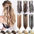 "8pcs/set 24""  Curly 18 Clips  Hair Extensions 16 New colors Synthetic Hairpiece Fake Hair  clip Curly Hair  pad false hair"