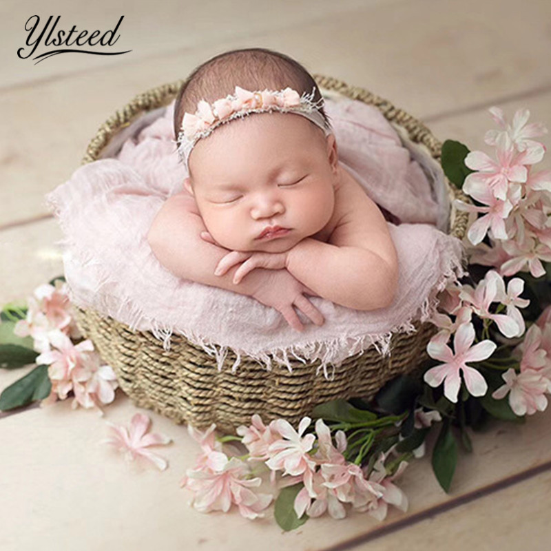 Ylsteed 90*180cm Cotton Newborn Wrap Baby Photography Swaddle Wraps Infant Shooting Basket Stuffer Blankets Newborn Photo Props