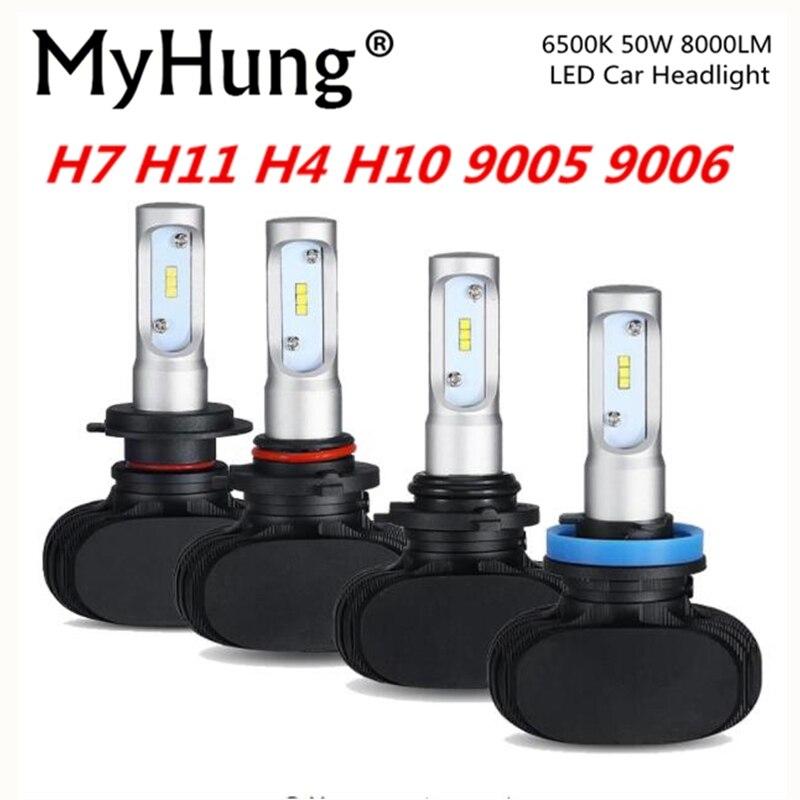 MyHung S1 automašīnas lukturis 50W 8000LM automobiļu spuldzes LED - Auto lukturi