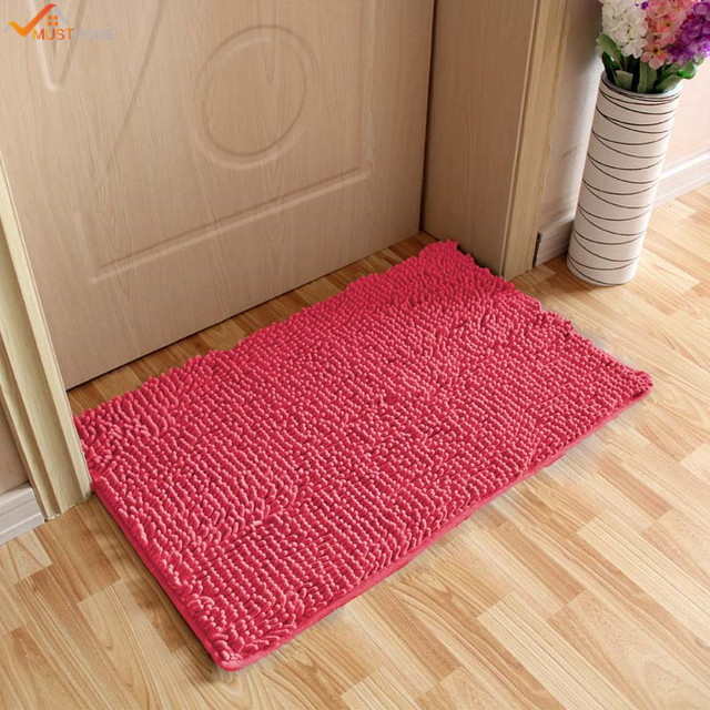 40*60CM Super Soft Bath Mat Microfiber Shag Bathroom Rugs Non Slip  Absorbent Fast Drying