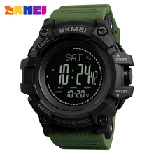 New Men Sports Watches SKMEI Brand Pressure Compass Watch Alarm Chrono Digital Wristwatches 30M Waterproof Relogio Masculino cheap Resin 26cm 3Bar Buckle ROUND 22mm 17mm Hardlex Complete Calendar Shock Resistant Stop Watch LED display Water Resistant